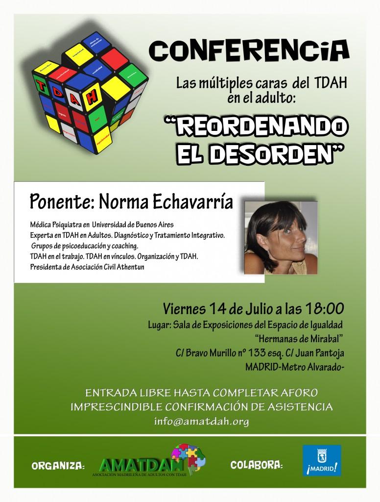 Cartel Conferencia Norma Echavarria